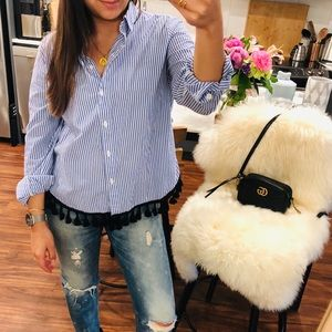 Tassel button down